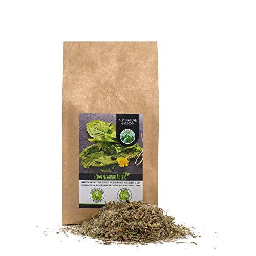 Te de diente de leon (250g), Pie de leon, hojas de diente de leon cortadas, suavemente secadas, 100% puras y naturales para la preparacion de te, te de hierbas