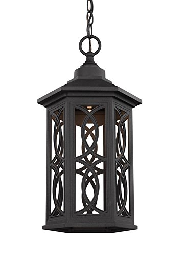Sea Gull 6217091S-12 Ormsby Outdoor Pendant, 1-Light LED 14 Watts, Black by Sea Gull Lighting