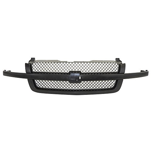 Perfit Liner New Front Black Grille Grill Replacement For Chevy Chevrolet Silverado 1500 Pickup Truck Classic Without Dale Earnhardt Package Fits SS Model GM1200557 19168630