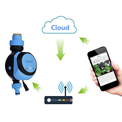 Decdeal Wireless Water Tap Timer, Gateway Automatic Irrigation Controller, Phone Remote Control