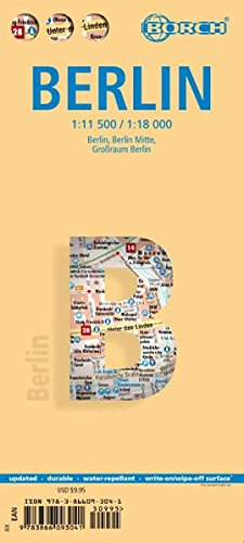Laminated Berlin Map by Borch (English Edition)