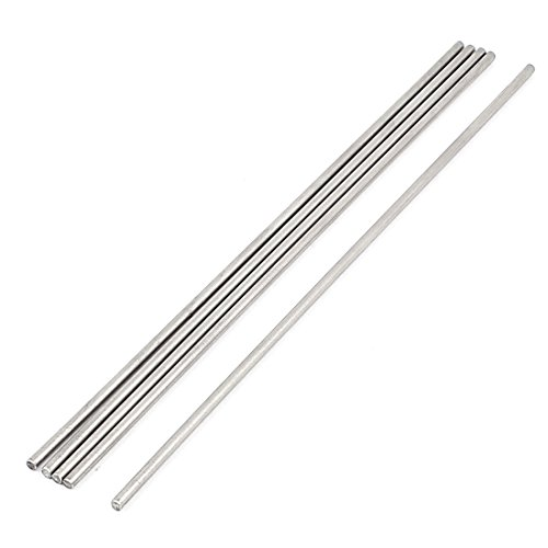 (Uxcell a15113000ux1580 5 Pcs 3mm x 200mm DIY RC Car Toy Model Straight Metal Round Shaft Rod Bars (Pack of 5))