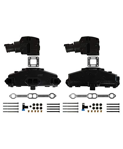 (Sierra V-8 Mercruiser Exhaust Manifold Kit Chevy 5.0L & 5.7L w/ 4