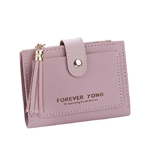 Women Tassel ShenPr Handbag Short Clearance Letters Holders Card Purse Zipper Purple Wallet Coin HWFT6Za