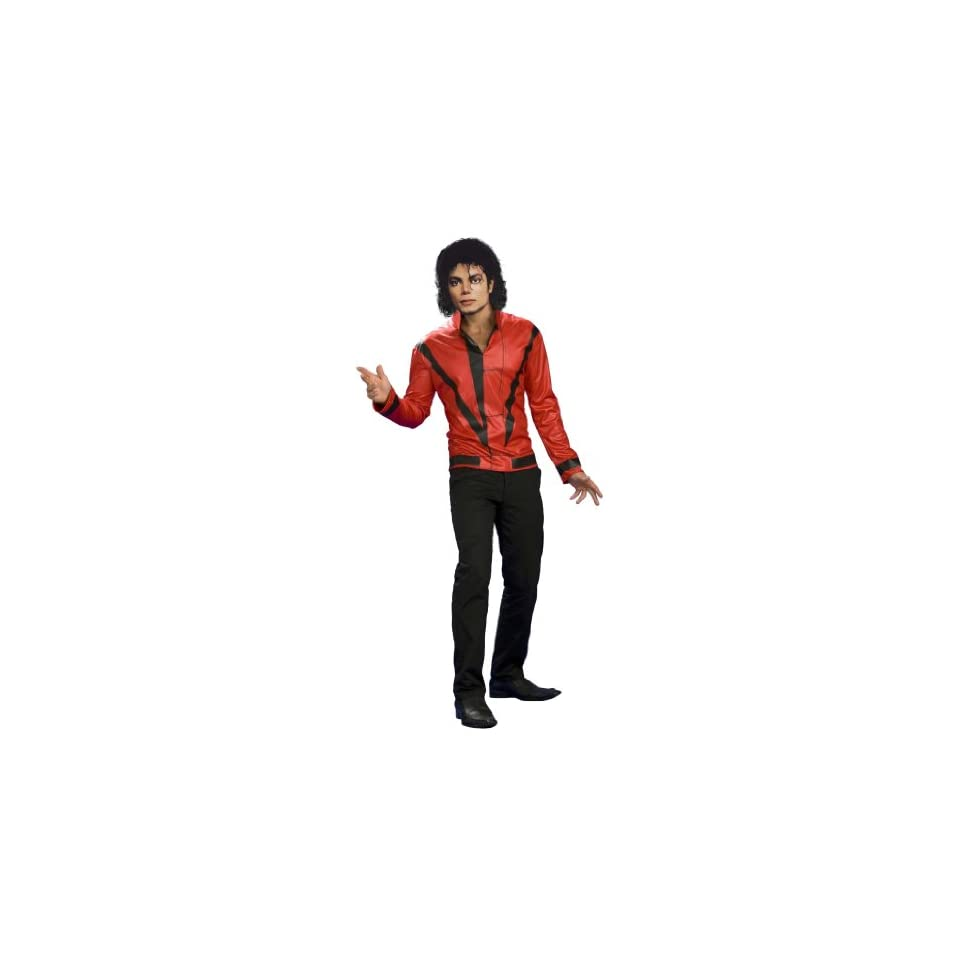 Lets Party By Rubies Costumes Michael Jackson Red Thriller Jacket Adult Costume / Red   Size Small