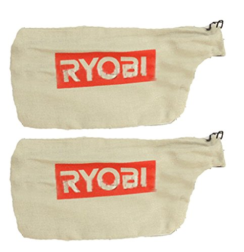 Ryobi TS1142L Compound Miter Saw (2 Pack) Replacement Dust Bag W/Wire # 089240003084-2pk