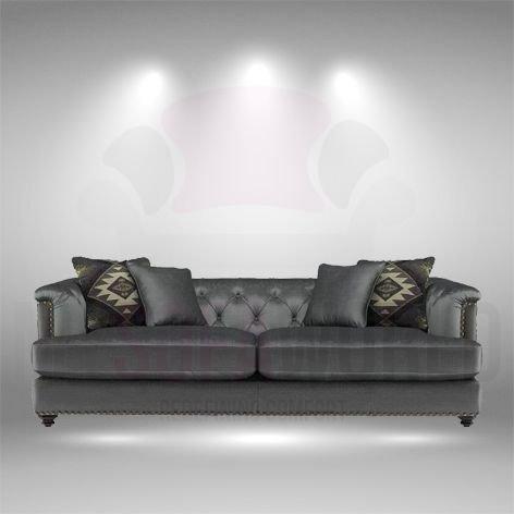 Bitola humo y negro estilo moderno piel sofá suite, cuero ...