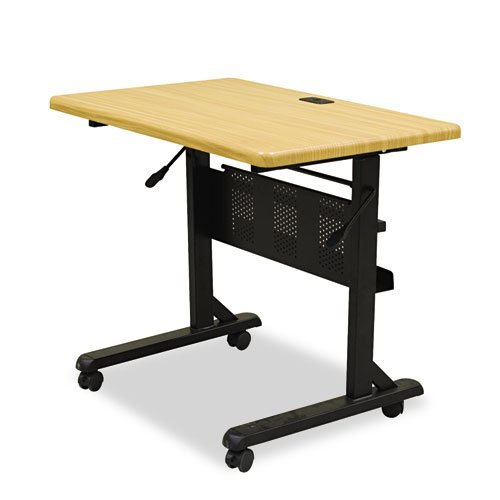 BALTamp;reg; - Flipper Training Table, Rectangular, 36w x 24d x 29-1/2h, Teak - Sold As 1 Each - Create multipurpose work areas in a conference room, training room or office. ()