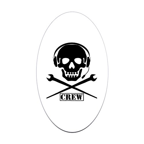 Stage Oval Water - CafePress Stage Crew Oval Bumper Sticker, Euro Oval Car Decal