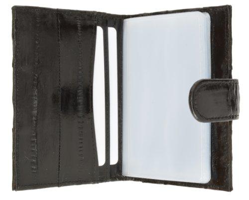 Eel Skin Credit Card Case Black #E570 (Phone Case Skin Eel Cell)