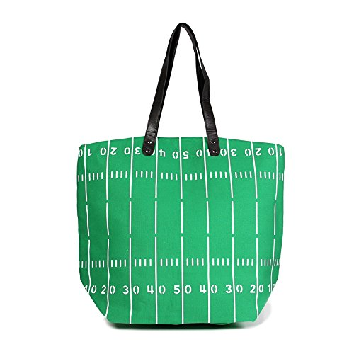 Me Plus Sports Baseball-Softball-Football Design Tote Hand Bags/Fashion Shoulder Bags/X-Large 21 IN. (Football Field)