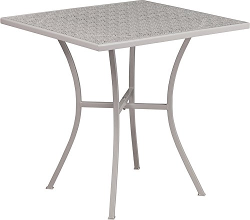 SuperDiscountMall Premium Quality 28'' Gray Steel Patio Table CO-5-SIL-GG by SuperDiscountMall