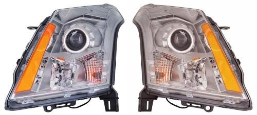 Go-Parts PAIR/SET OE Replacement for 2010-2013 Cadillac SRX Front Headlights Headlamps Assemblies Front Housing/Lens / Cover - Left & Right (Driver & Passenger) Side for Cadillac SRX