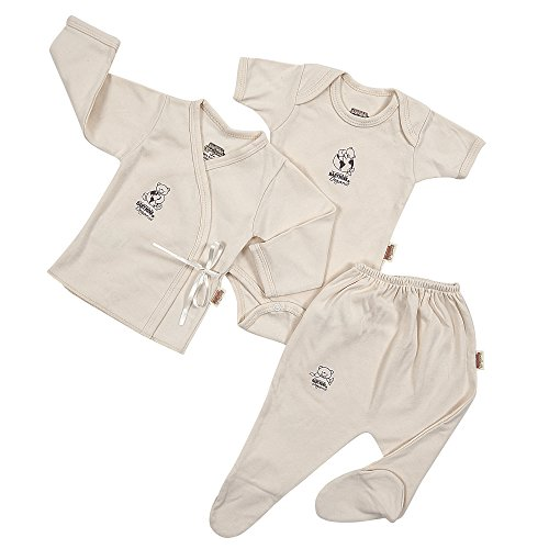 Baby Mink 100% Organic Cotton 3 Piece Set - Onesie, Shirt & Pant (3-6 Months)