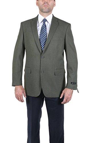 P&L Men's Modern Fit Two-Button Blazer Suit Separate Jacket