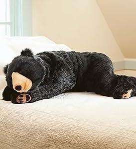 Giant Animal Pillow Bed : Amazon.com: Black Bear Animal Giant Plush Stuffed Body Hug Pillow for Kids Teens Adults, Soft ...