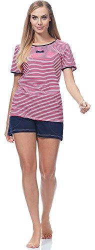 0227 Italian Rosso Pigiama Fashion per Donna Bessi Navy IF YU1wqrY