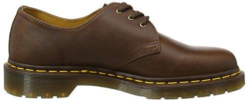 Cordones 220 Marrón Martens de Zapatos 1461 Hombre Derby para Dr Tan vIqgOxwq