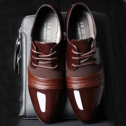 y Piel Marrón Zapatos Zapatos Boda Zapatos 38 Forrados Logobeing 47 2018 con Vestir Hombre Modernos Cordones En Oxford Cordones Zapatos de de RvqwOv
