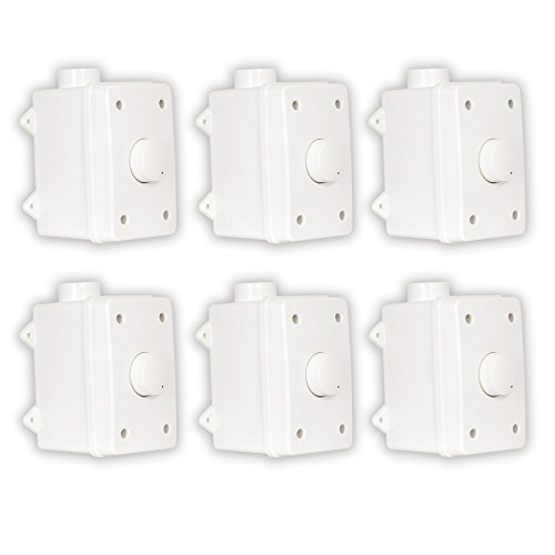 Theater Solutions OVCDW Outdoor Volume Controls White Weatherproof Dial 6 Control Set by Theater Solutions