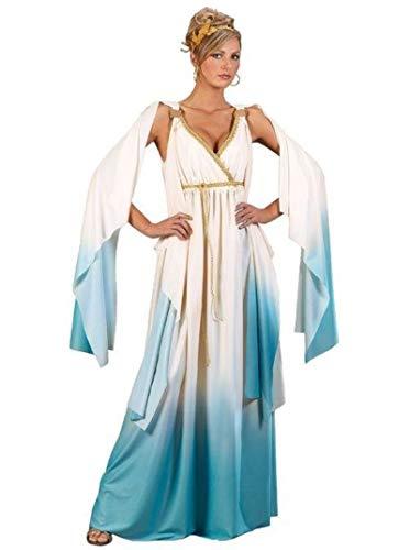 Fun World Greek Goddess Costume, Crème/Light Blue,