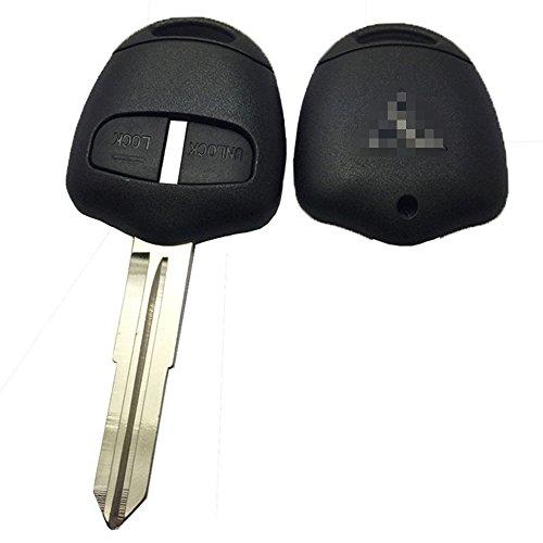 Horande Replacement Housing Shell Remote Blank Key Case Fob 2 Button For MITSUBISHI Lancer Evolution Grandis Outlander Right Blade (Grande Kitchen)