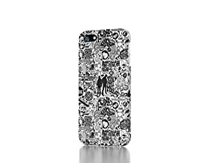 Hu Xiao Apple iPhone 4 / 4S case cover - The Best 3D Full Wrap iPhone case cover xa0TUy1LtHs - Comics Black And White