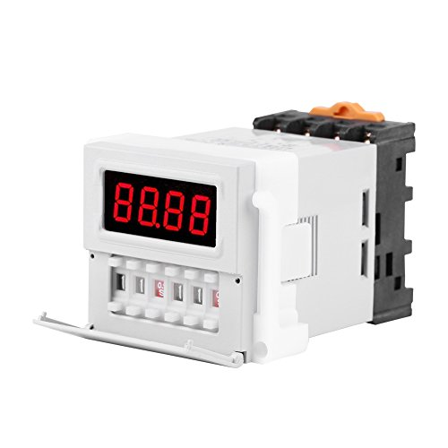 AC/DC 24-240V Digital Cycle Time Timer Switch Relay Delay 0.1S-99H White
