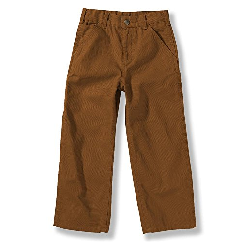 Carhartt Kid's CK8303 Washed Dungaree Pant - Boys - 12 Months - Carhartt Brown