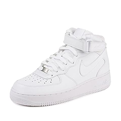 Nike Mens Air Force 1 Mid 07 Basketball Shoes White/White 315123-111 Size 12