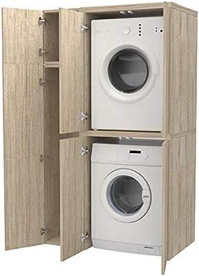 Ve.ca. Columna + compartimento accesorio con puertas cubre ...