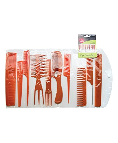(Magic 10 Piece Professional Styling Comb Set (BONE))