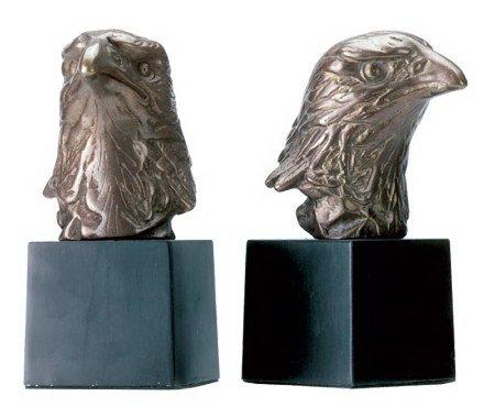 Brass Eagle Head Bookends (Eagle Head Bookends)
