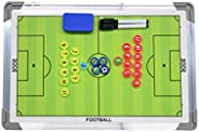 Soccer Clipboard Dry Erase, Magnetic Soccer Coaching Board, Stainless Steel Football Board, with Stand, Marker