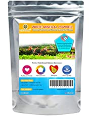 SunGrow Shirakura White Mineral Powder - Calcium Enriched For Shrimps Stress-Free Molting - Aids In Healthy & Active Breeding - Improves Water Quality For Longevity - Imparts Color To Shrimps