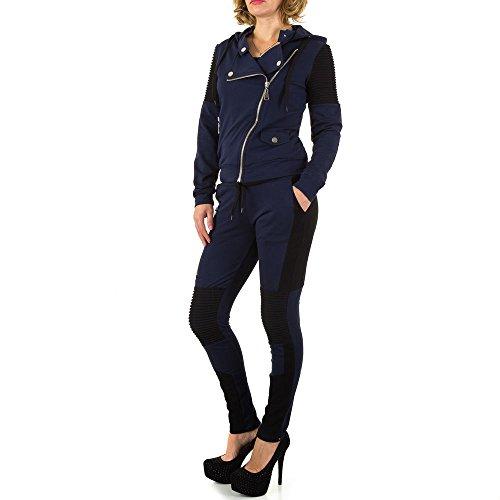Biker Zweiteiler Anzug Für Damen , Dunkelblau In Gr. M bei Ital-Design