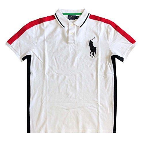 RALPH LAUREN Polo Mens Custom Slim Fit Big Pony Mesh Polo Shirt (Medium, - Polo Big Watch