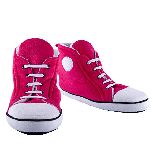 NEW Fizz Creations Ladies Hi-Top Slippers - Pink Size 5-7