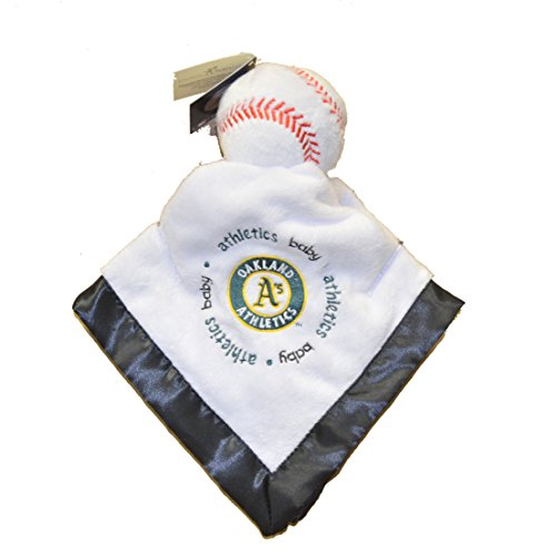 Oakland Athletics As Black Trim Baby Security Snuggle Bear Blanket - 14' x 14' MLB Baseball Infant Gift set