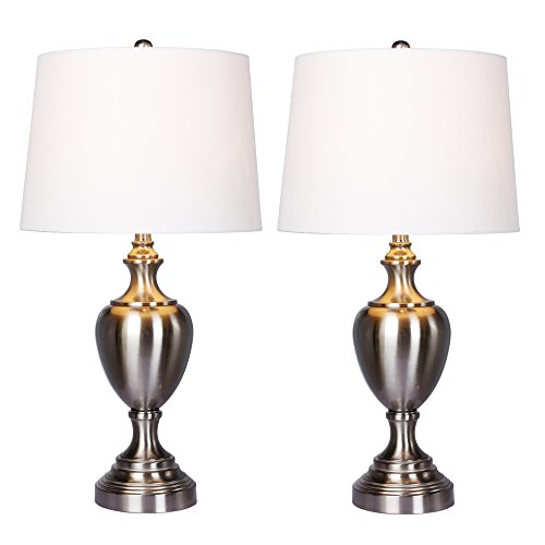 -2PK Fangio Lighting'S Urn with Pedestal Base Metal Table Lamps, 30
