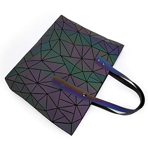 Capacité 57 3 De Mode À Bag Main Sac La Voyage Portable Femme Taille Luminous Noctilucous 20in 12 Grande 14 couleur Pour Personnalité Bandoulière Geometric Noctilucous 15 R16wAqv