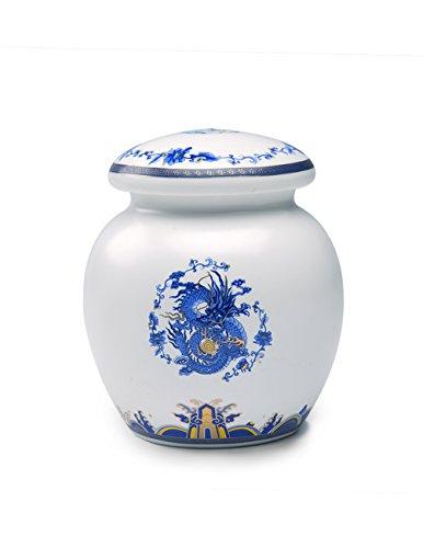 - Dahlia Blue and White Royal Dragon Airtight Porcelain Tea Tin/Tea Storage/Tea Caddy/Tea Canister