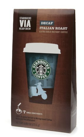 Starbucks Via Prepared Brew, Decaf Italian Roast (pack of 2 )