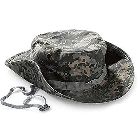 Vikenner Boonie Bucket Sombrero para el Sol Sombrero de Camuflaje Militar Sombrero de ala Ancha Sombrero de Pescador Protecci/ón UV Hombres Gorra al Aire Libre Caqui