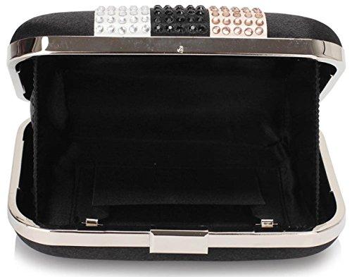 Bags CWE00312 Clutch Wedding Case Hard Bag Ball Bridal Diamante Party Evening Quality CWE00312 Black Women's Festival Pram CWE00284 nRwOxqaaC