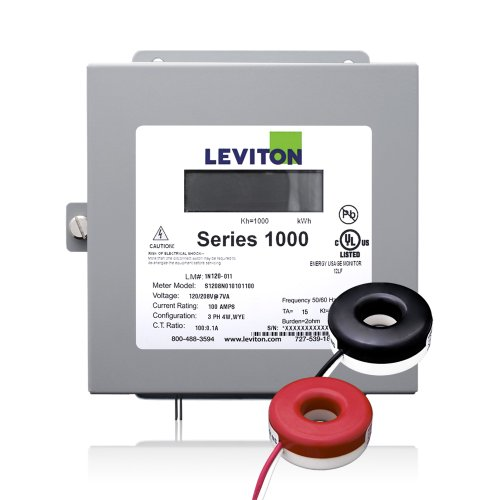 Leviton 1K240-1SW Series 1000 120/240V 100A 1P3W Indoor Kit with 2 Solid Core CTs