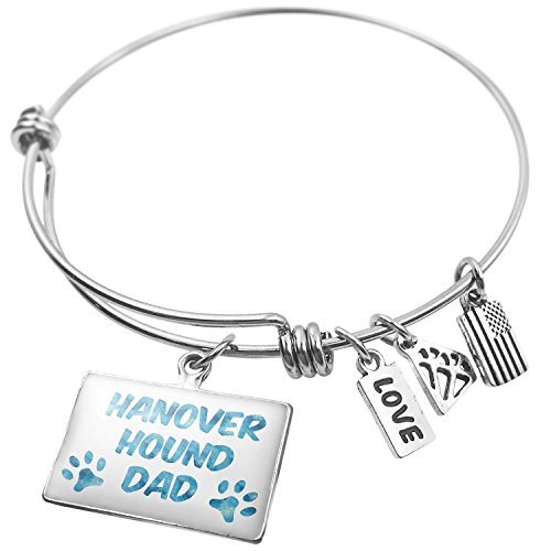 NEONBLOND Expandable Wire Bangle Bracelet Dog & Cat Dad Hanover Hound -