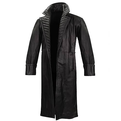 Adult Nick Fury Director of SHIELD Long Black Genuine Leather Coat - DeluxeAdultCostumes.com