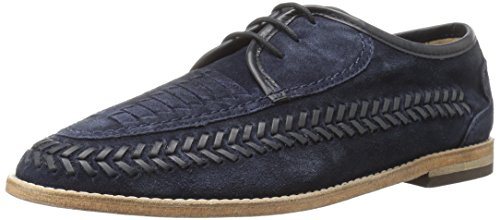 H by Hudson Men's Anfa Suede Oxford, Navy, 8 M US by H by Hudson