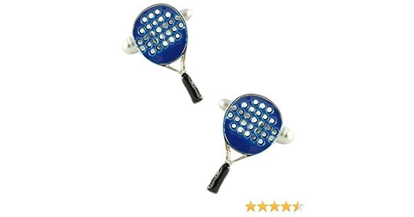 MasGemelos - Gemelos Raqueta de Padel Azul Cufflinks: Amazon.es ...